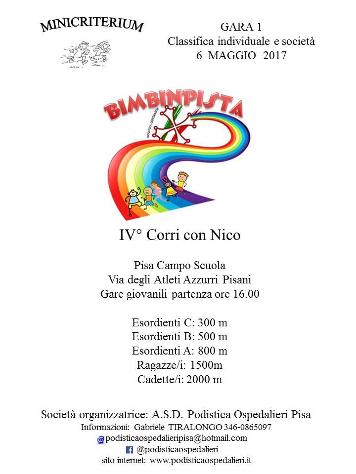 Calendario Podistico Toscana.Asd Podistica Ospedalieri Pisa Bimbinpista La Nuova
